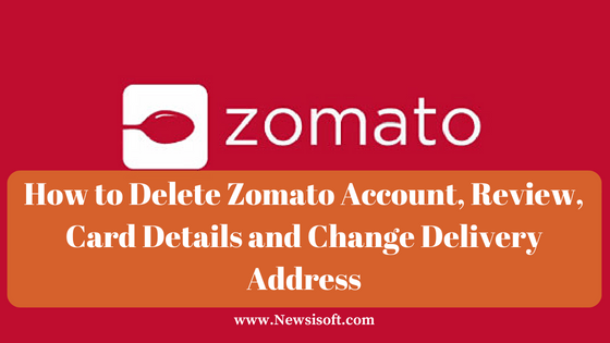 how to delete a zomato account