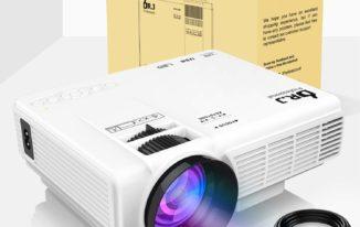 DR.J 1800 Lumens 4inch Mini Projector
